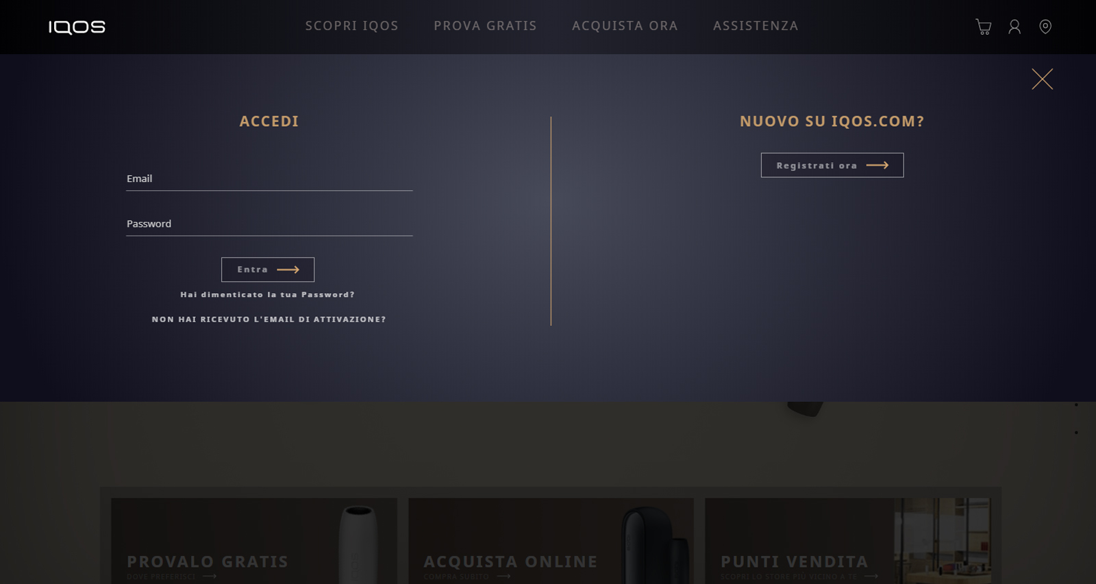 Diagnostica online IQOS